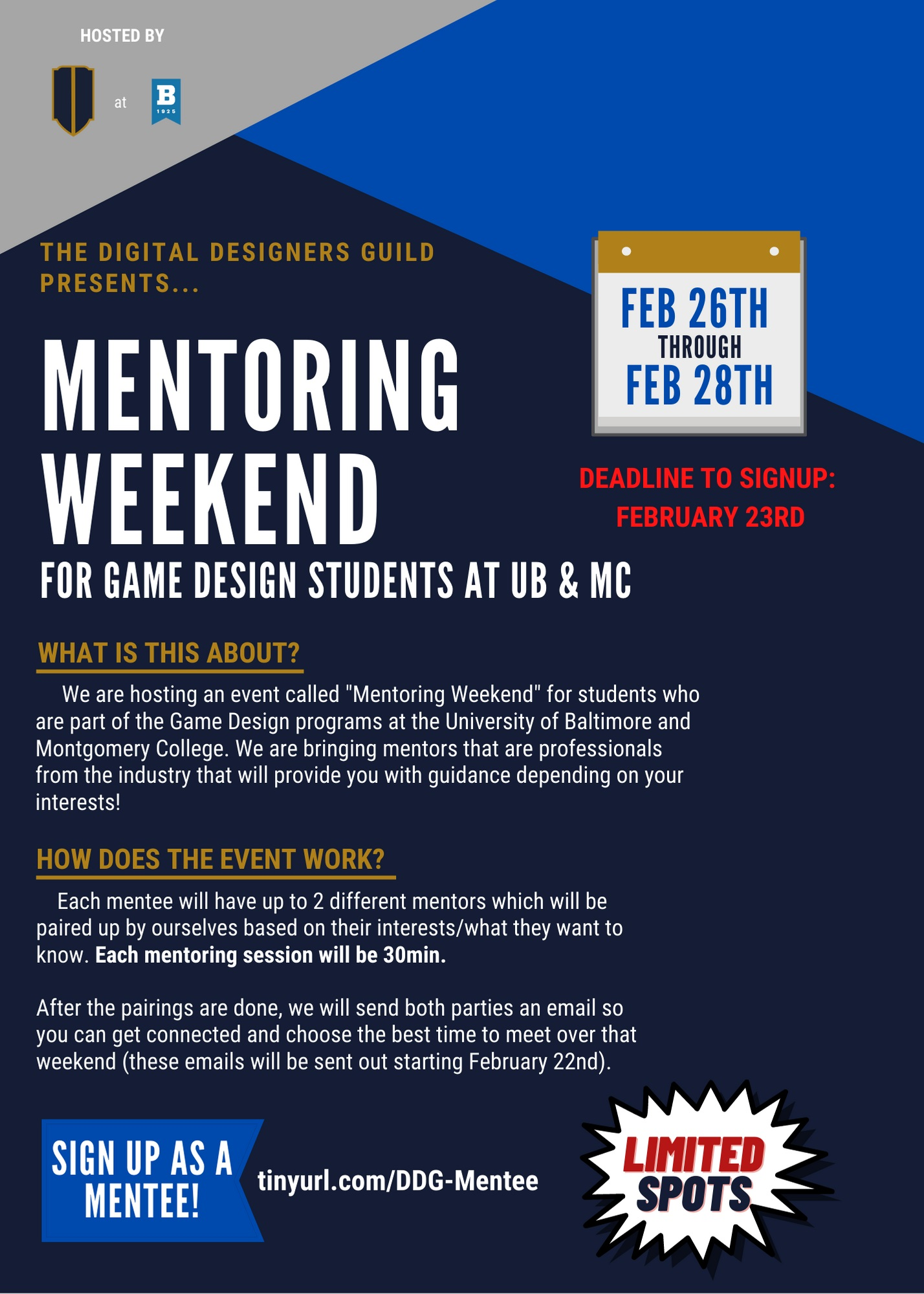 Mentoring Weekend for SGD Students!